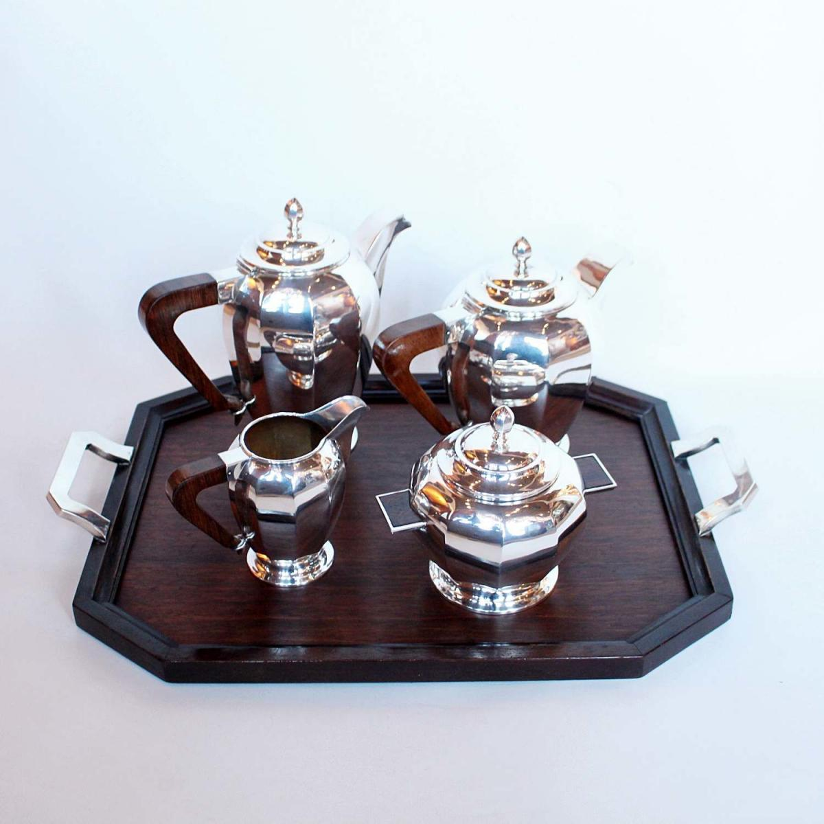 Coffee Art Maker Set Art Deco Silver Tea Coffee Set Bada
