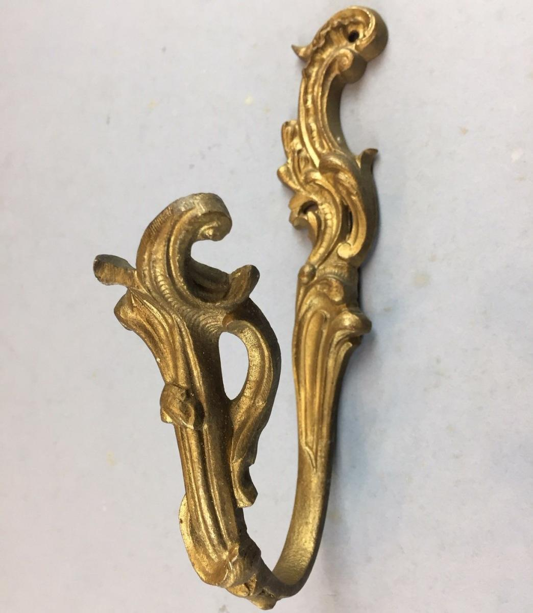 Antique Bronze Curtain Tie Backs Pair Of Antique Gilded Brass Curtain Tie Backs Bada