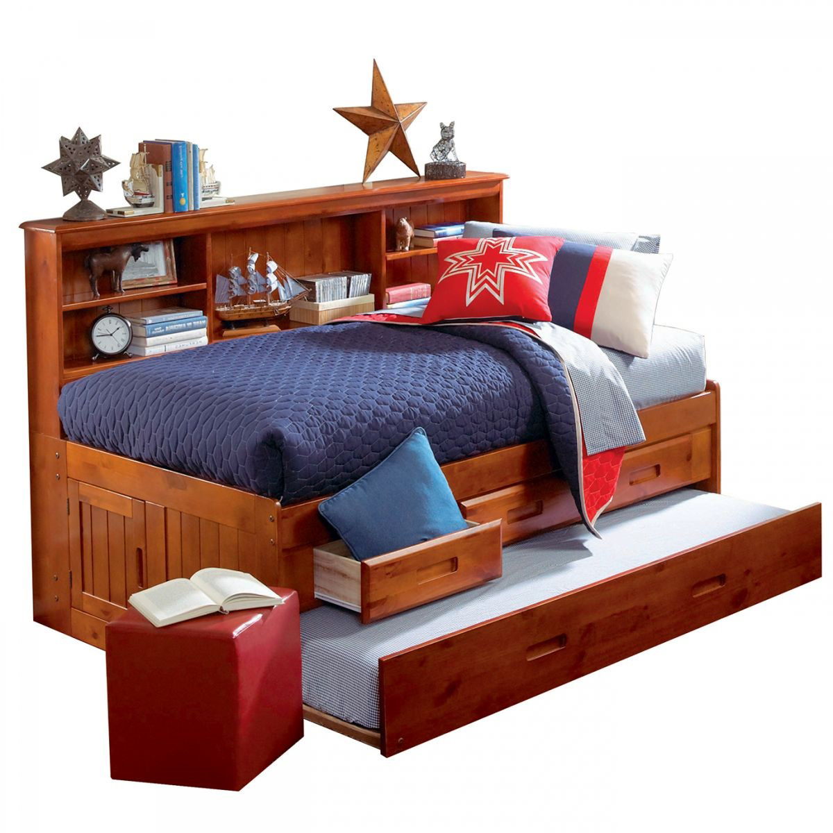 Bookcase Bed Forrester Full Bookcase Bed