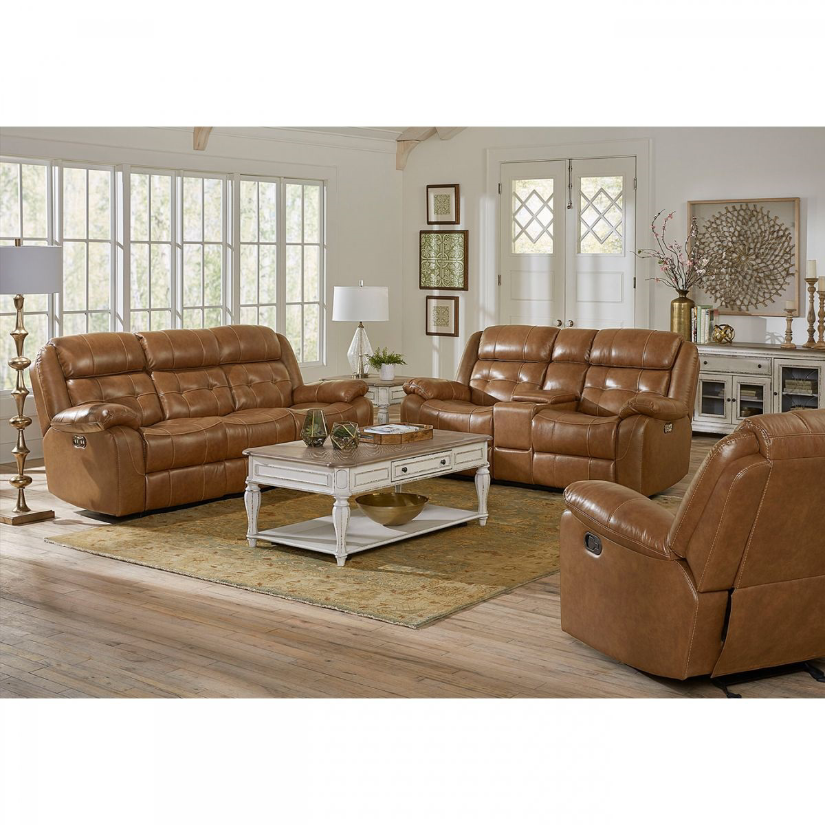 Dual Reclining Sofa With Console   Kmax 2 Toned Dual Reclining Sofa ...