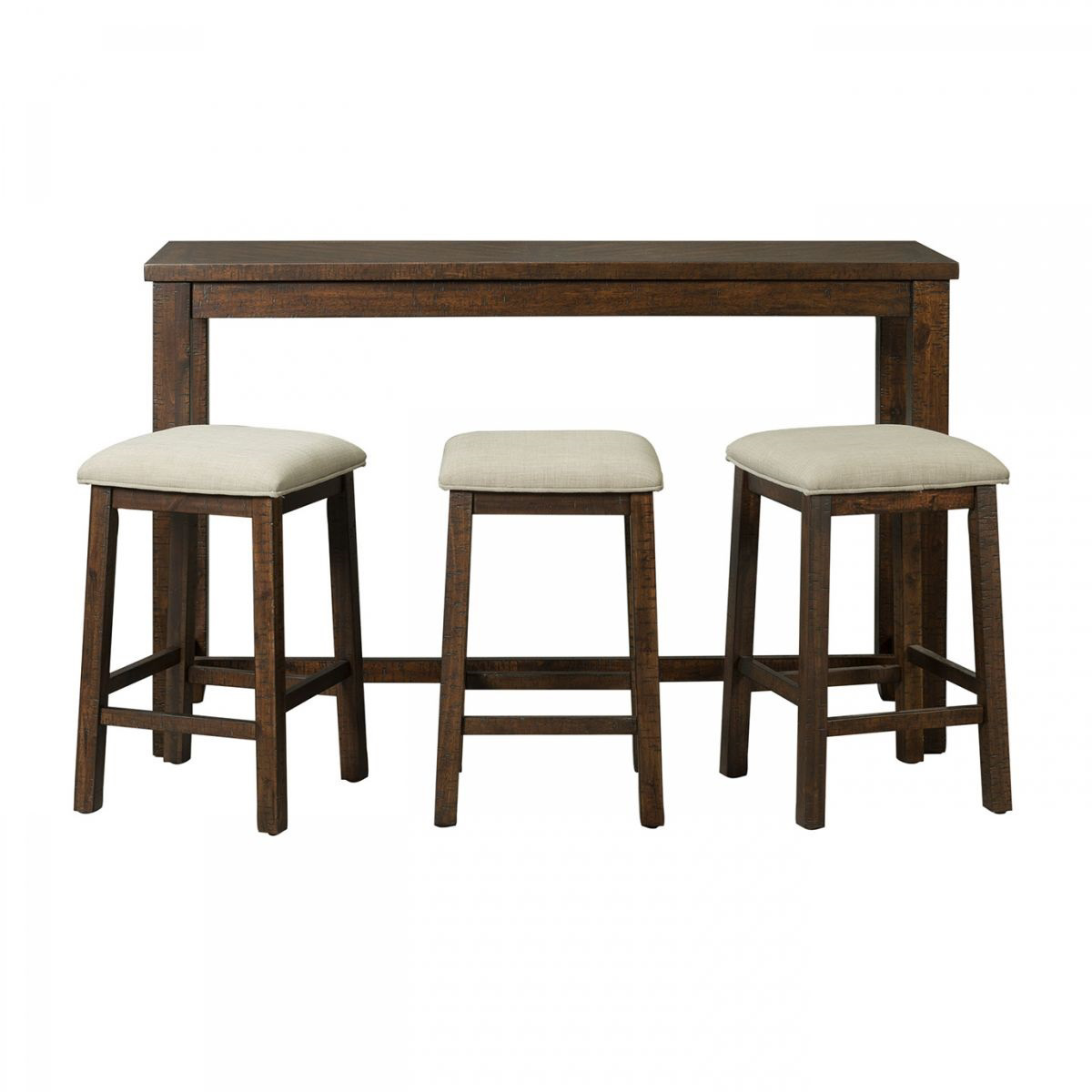 Table And Bar Stools Jax Brown Bar Table With 3 Stools