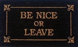 be nice doormat