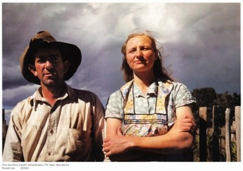 Thumbs Faro and Doris Caudill, homesteaders.