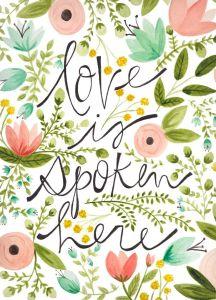 love spoken