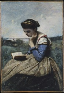 A Woman Reading by Camille Corot courtesy Met OASC