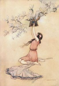 "Warwick Goble, ""Pandora and Her Box"""