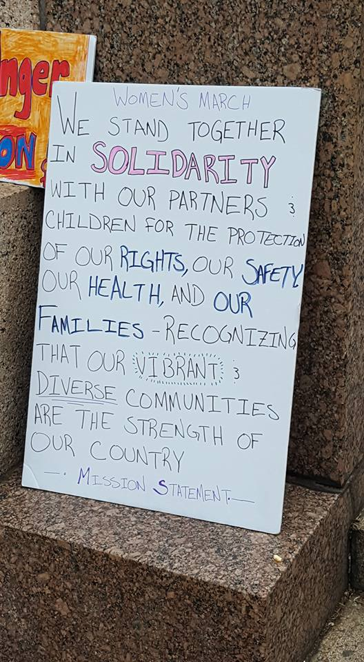 The Mission Statement of the Women's March. I saw it played out in real life.