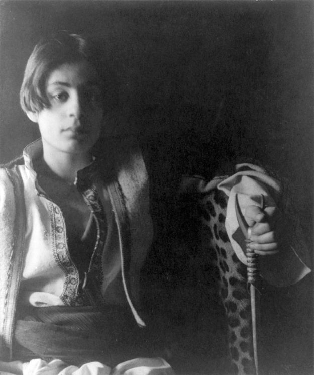 Khalil Gibran at the age of 15. Photograph by Fred Holland Day, c. 1898.