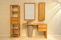 SAM Badezimmer-Set Kubu Bangli aus Teak-Holz, mit Marmor ...