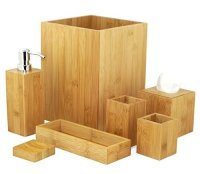 Badset Badezimmer Set Bambus Seifenspender Wc Garnitur MK ...