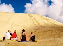 Ashraf - Sandboarding the dunes