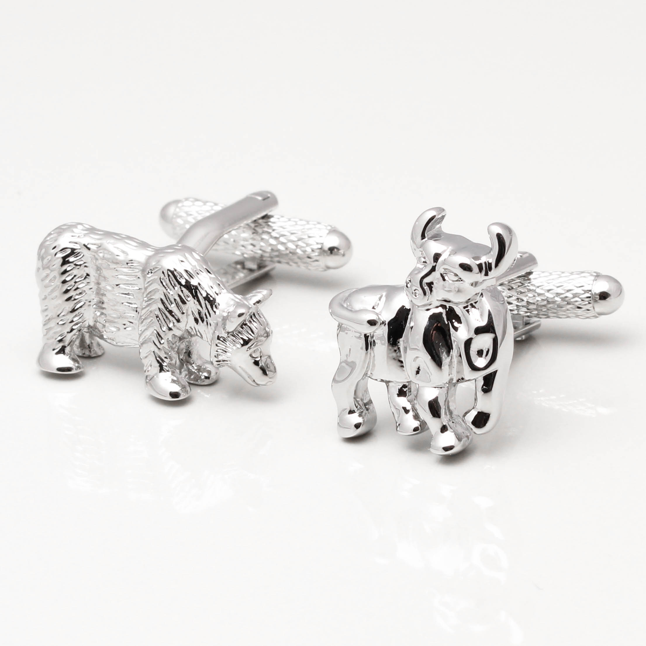 Bull And Bear Gifts Stock Market Cufflinks By Badger And Brown The Cufflink