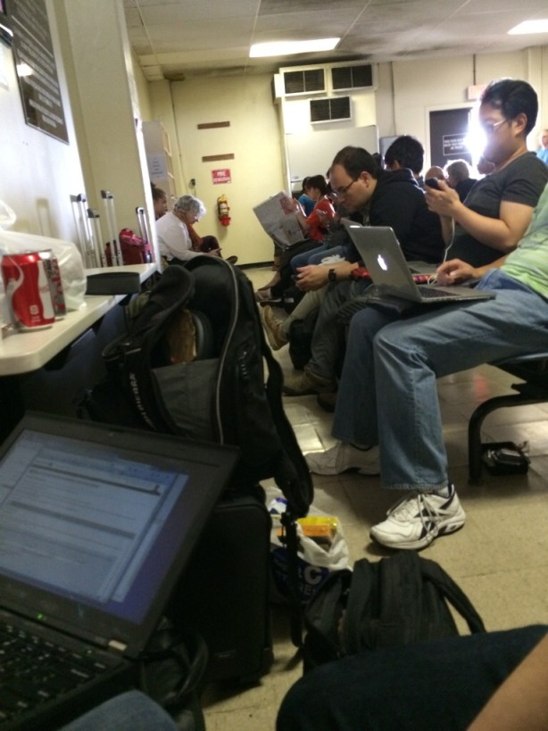 Using the WiFi in the Kwajalein airport terminal