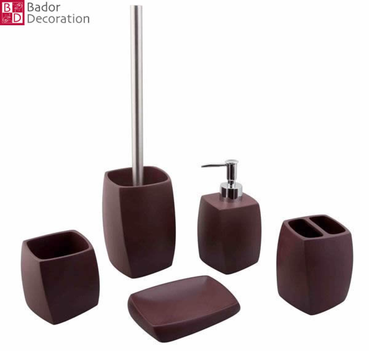 Bad Set Wc Bador Decoration 5 Tlg Bad Set Quothelios Quot Braun