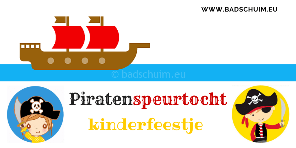 Piratenspeurtocht vol met spelletjes EN piraten diploma