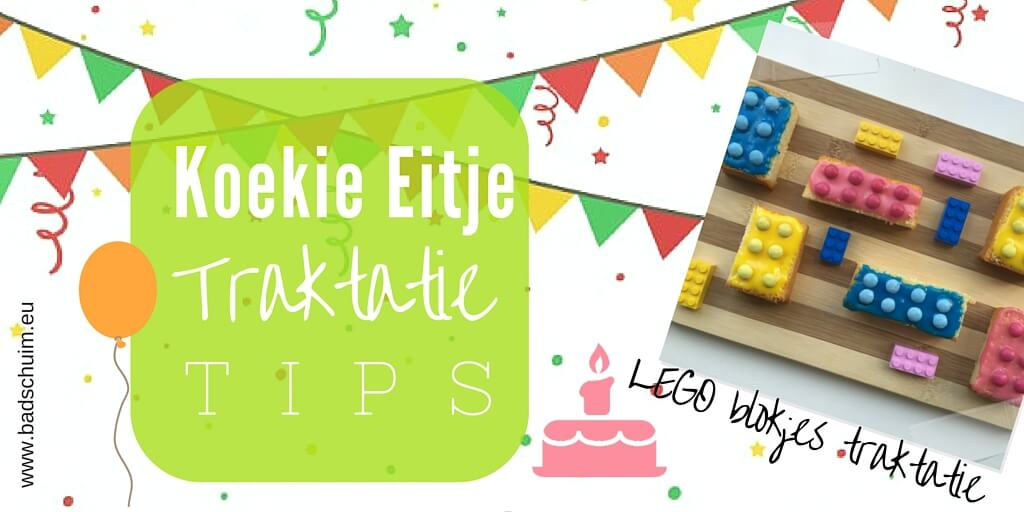 LEGO blokjes traktatie - koekie eitje traktatie tip