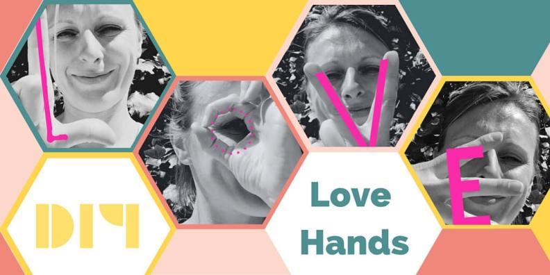 Love hands - kaartje voor moederdag