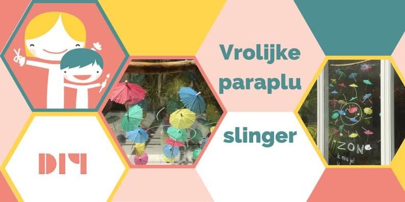 Vrolijke paraplu slinger - zomerse DIY