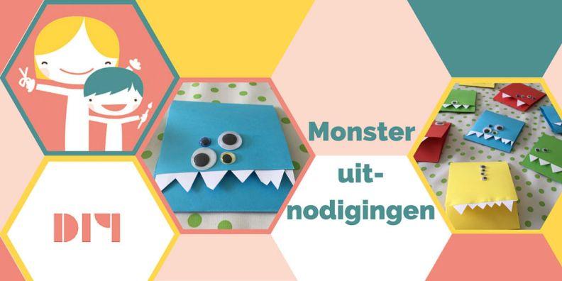 Monster (lijke) uitnodigingen voor een kinderfeestje