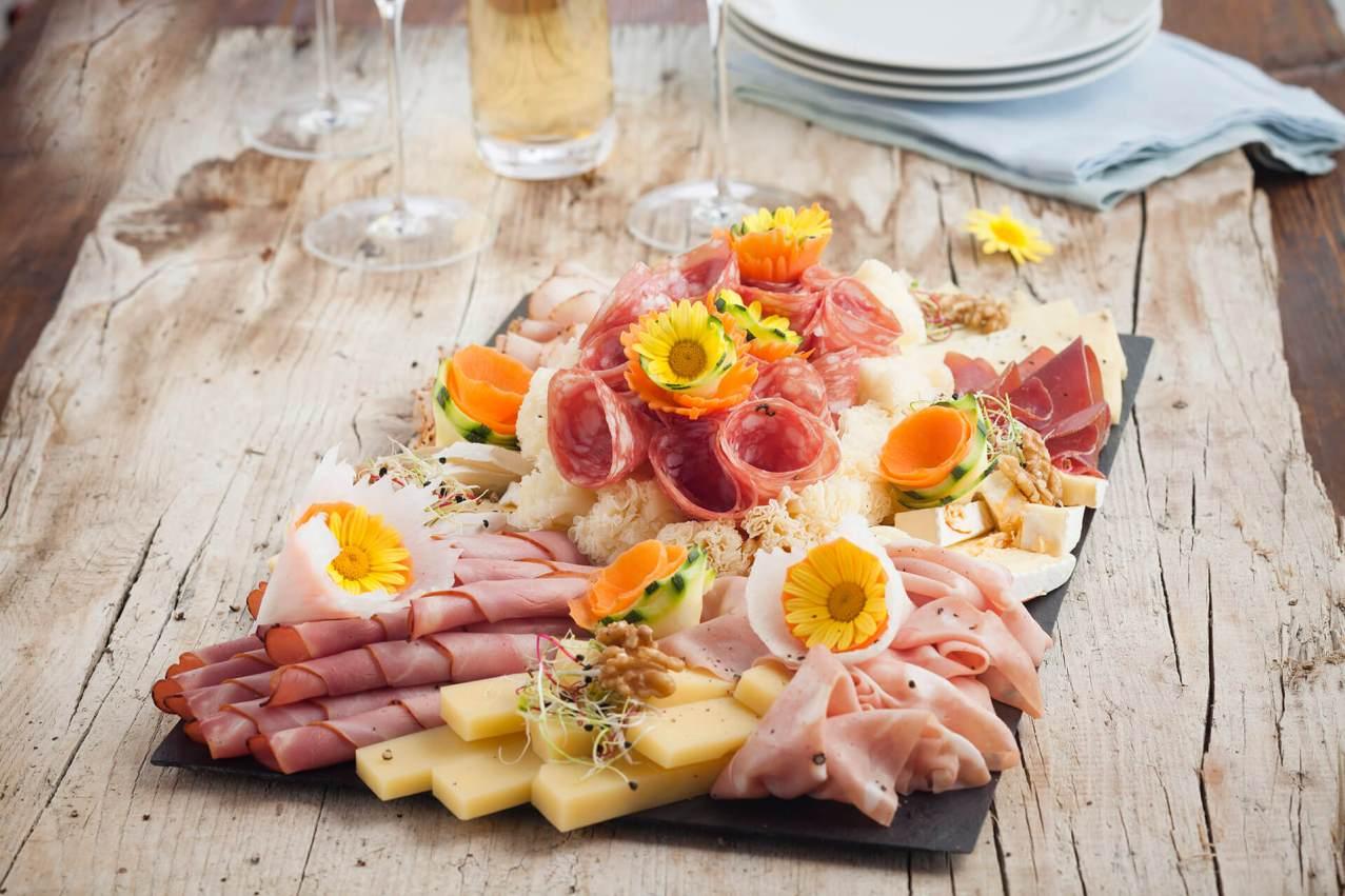Fleisch / Käse Platte