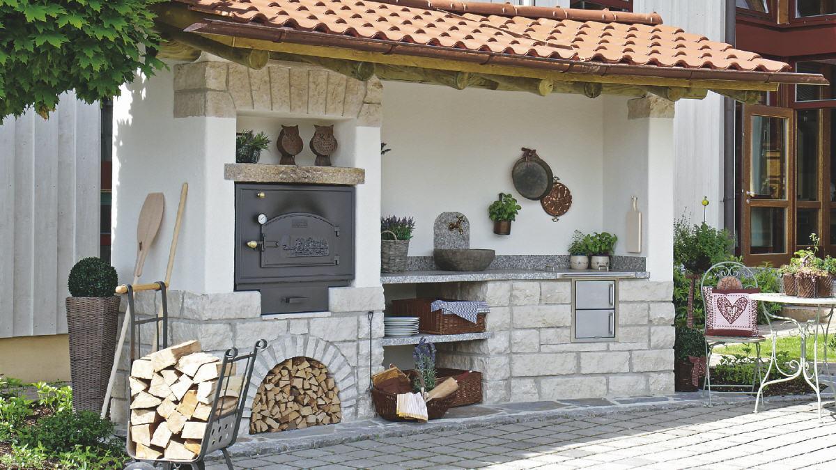Outdoorküche Mit Holzbackofen : Häussler outdoor küche häussler holzbackofen bausatz preis
