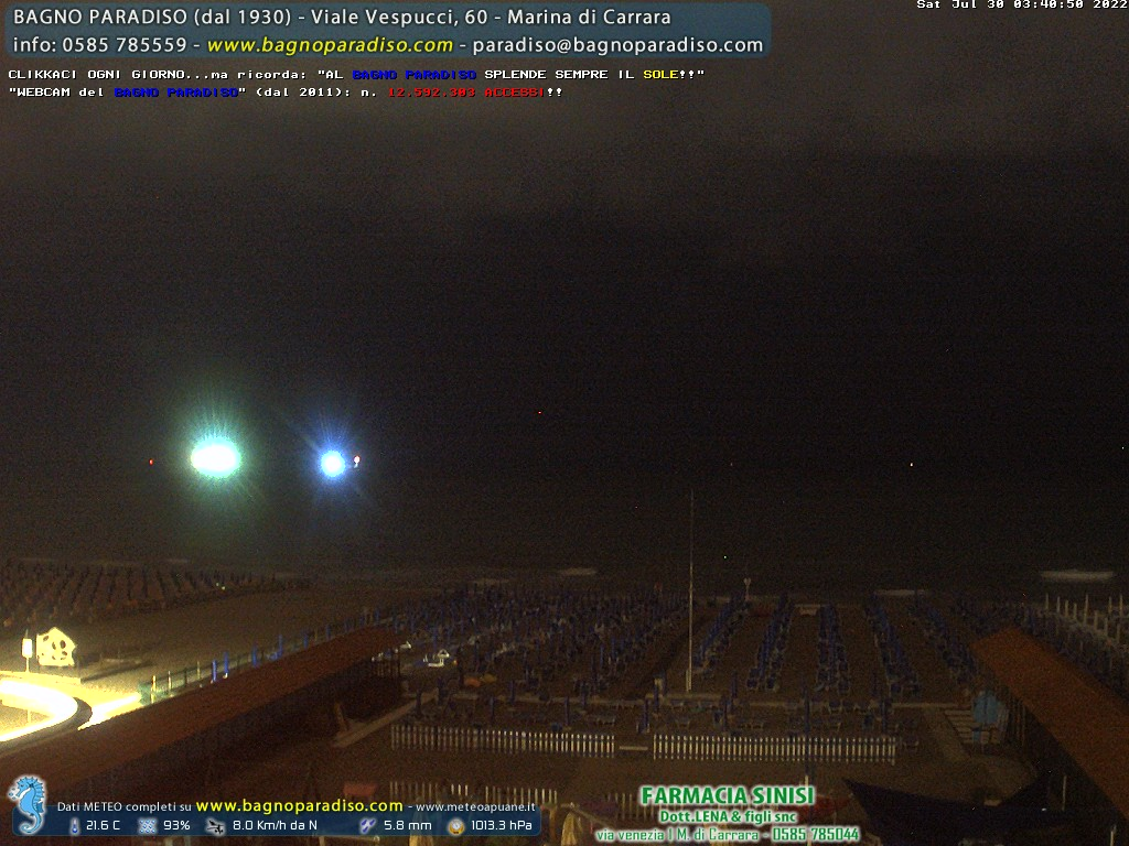 Bagno Europa Ronchi Webcam Massa Webcam Meteo Ilmeteo It