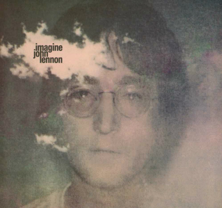 Album cover for John Lennon's 'Imagine', released 9 September, 1971. John Lennon was born 9 October, 1940 and was murdered on 8 December, 1980.