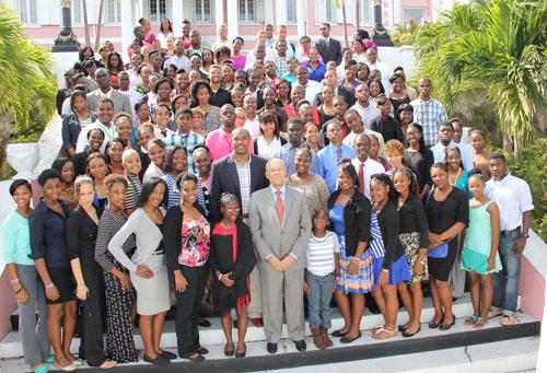 Bahamas Junior Achievement delegation visit Government House - junior achievement bahamas