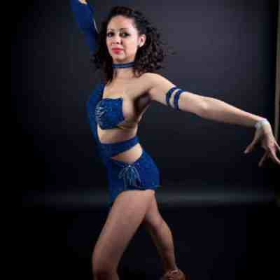 Starry Night is one of several custom salsa dresses by Baila Designs