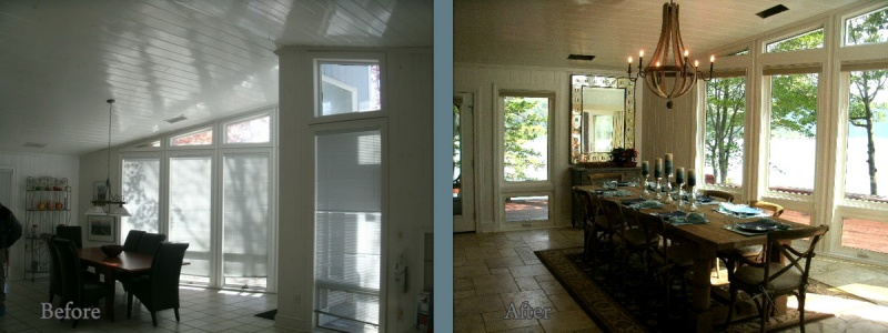 Smith Mountain Lake builder before and after 1