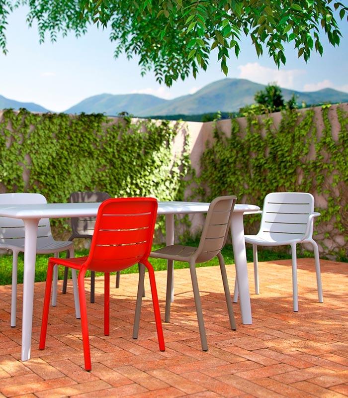 Table De Jardin Aluminium Blanc