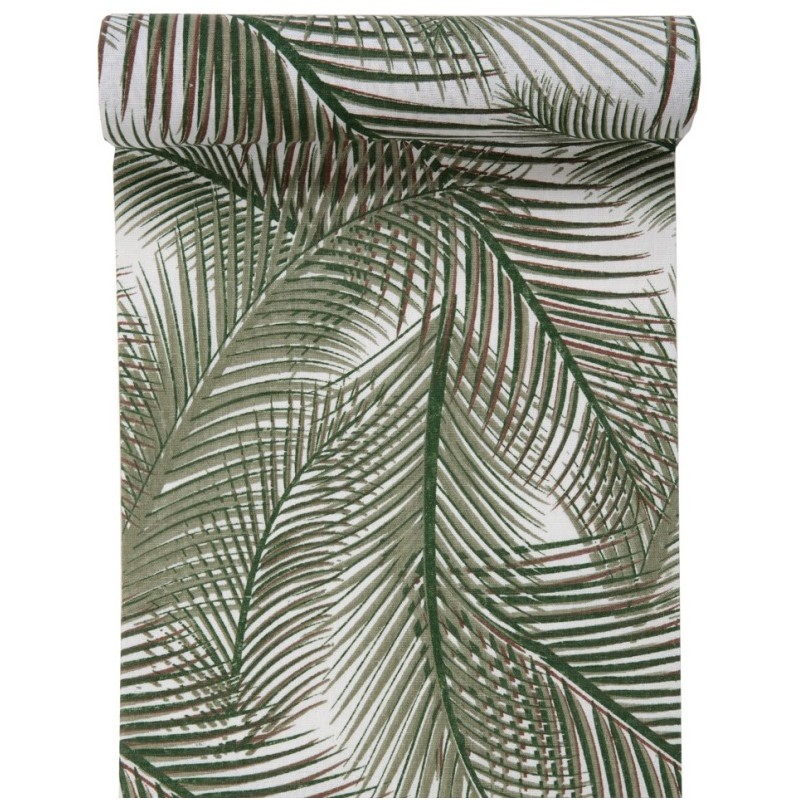 Serviette Jetable Chemin De Table Jungle Palmier Coton 3 M Achat Chemins De