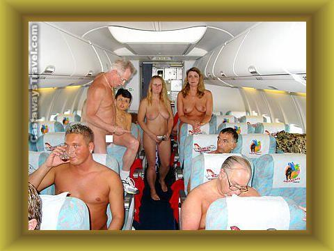 nudist family at beach