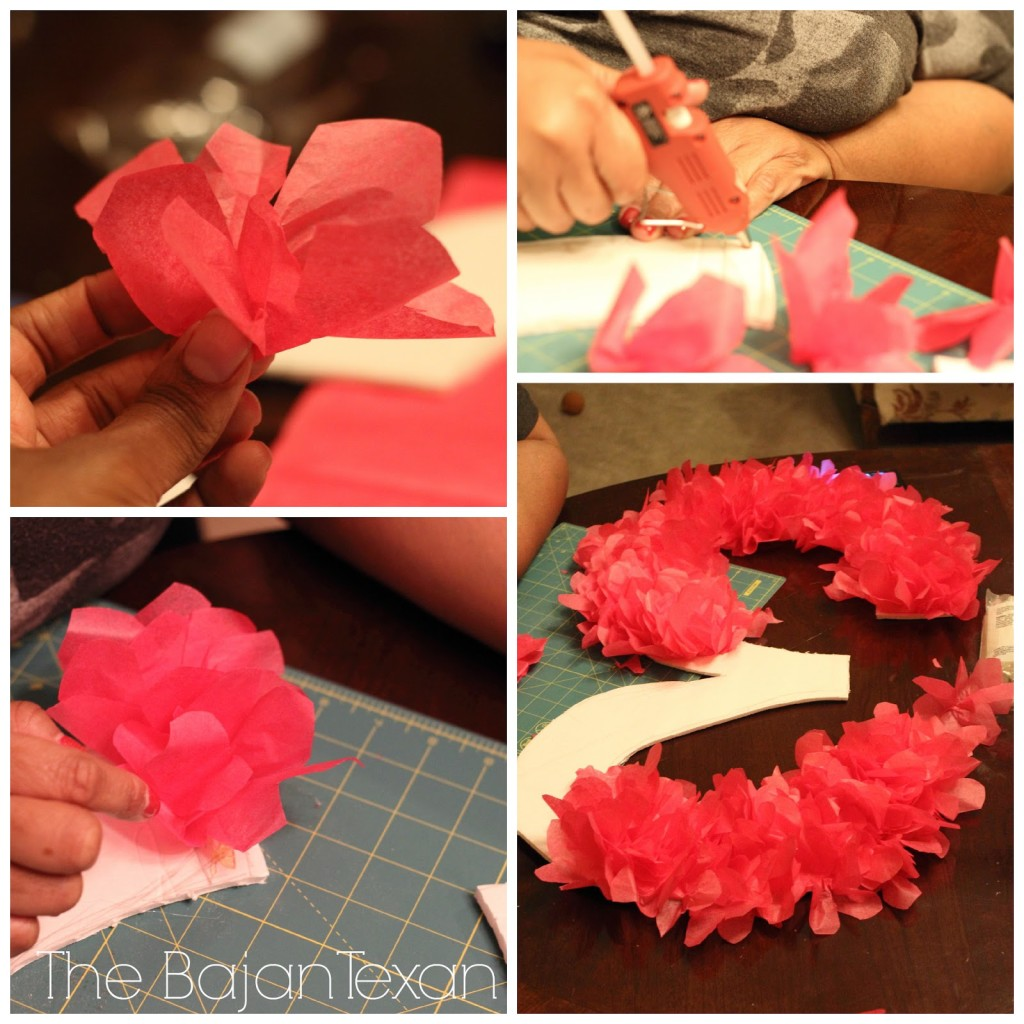 Tissue Paper Birthday Number Sign Tutorial Diy Party Decor The Bajan Texan