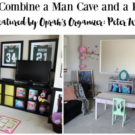 Man Cave Play Room Organization (Featured by Peter Walsh Oprah's Organizer)