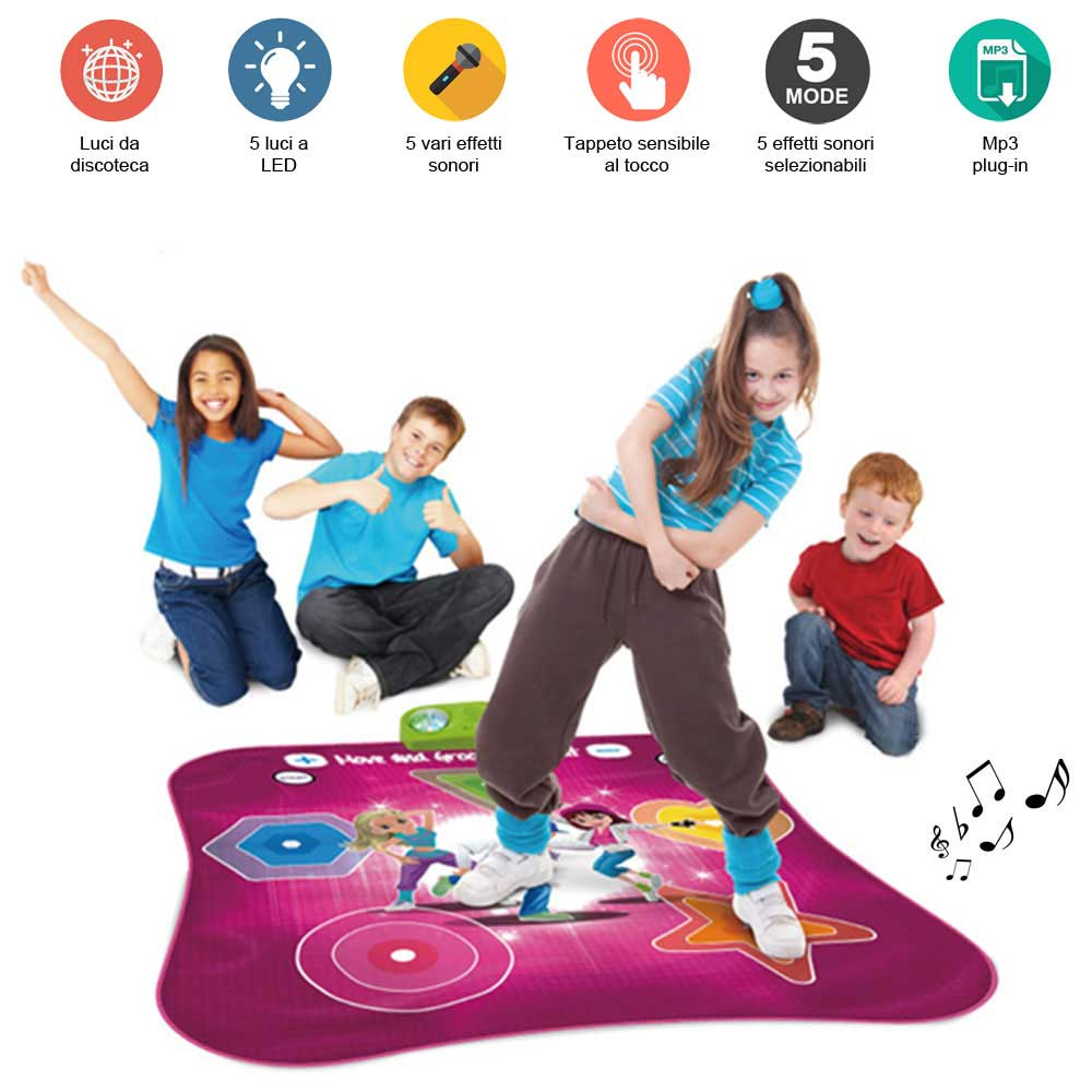 Tappeto Musicale Pianoforte Tappeto Musicale Da Ballo Dance Moove And Groove Luci Led