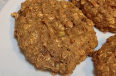 oatmeal breakfast cookie with peanut butter and banana