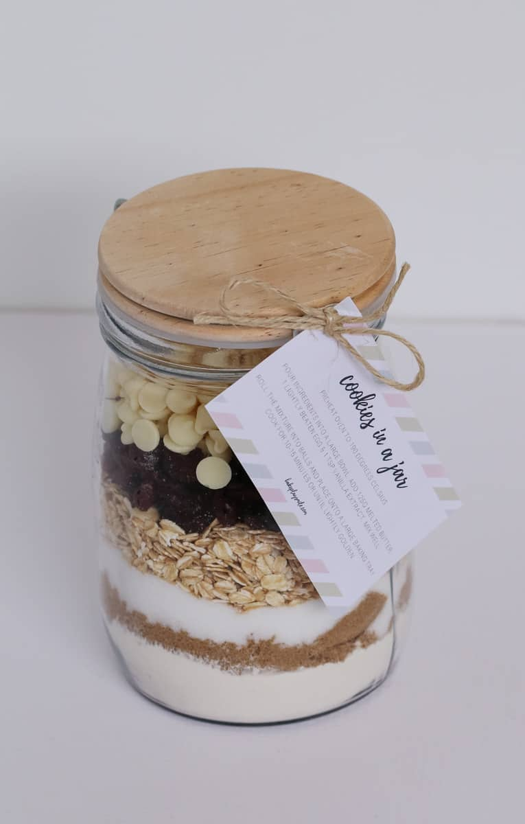 Unique Cookie Jars Cookies In A Jar Homemade Gift With Free Printable Gift Tag