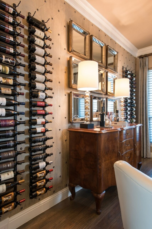 interior design Frisco wine room