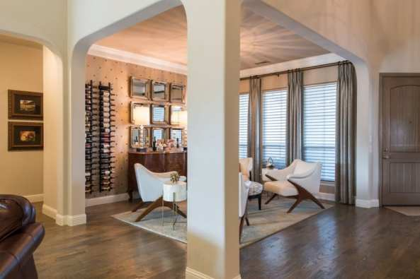wine room design interior design modern transitional warm