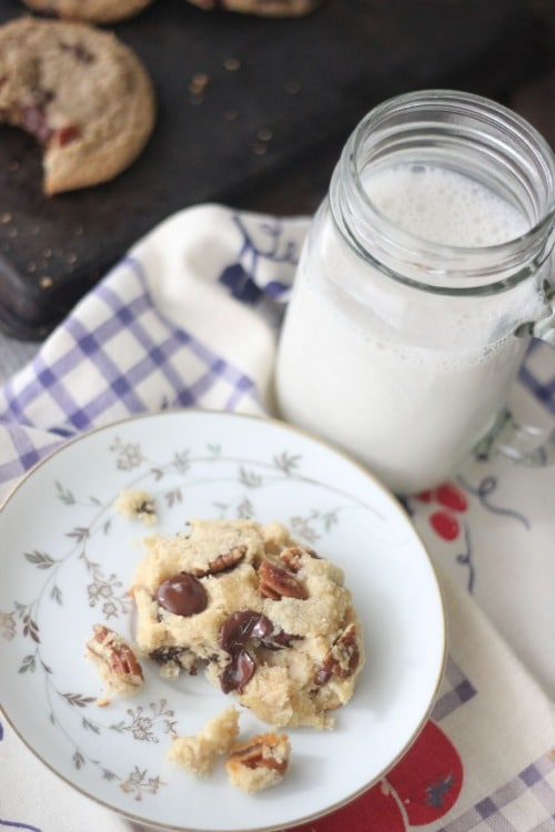 Single Serving Paleo Chocolate Chip Cookie