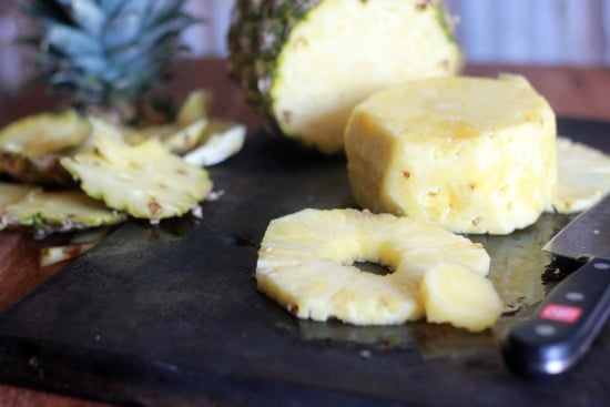 One Ingredient Pineapple Sorbet