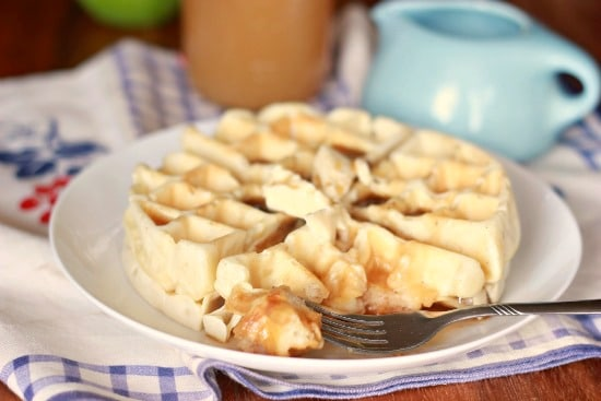 Old Fashioned Waffles with Apple Cider Syrup (vegan) - Baker Bettie