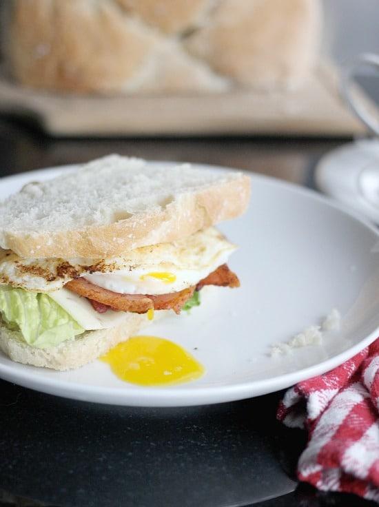 Easiest Bread Recipe, 4 Ingredient Rustic Bread- Baker Bettie