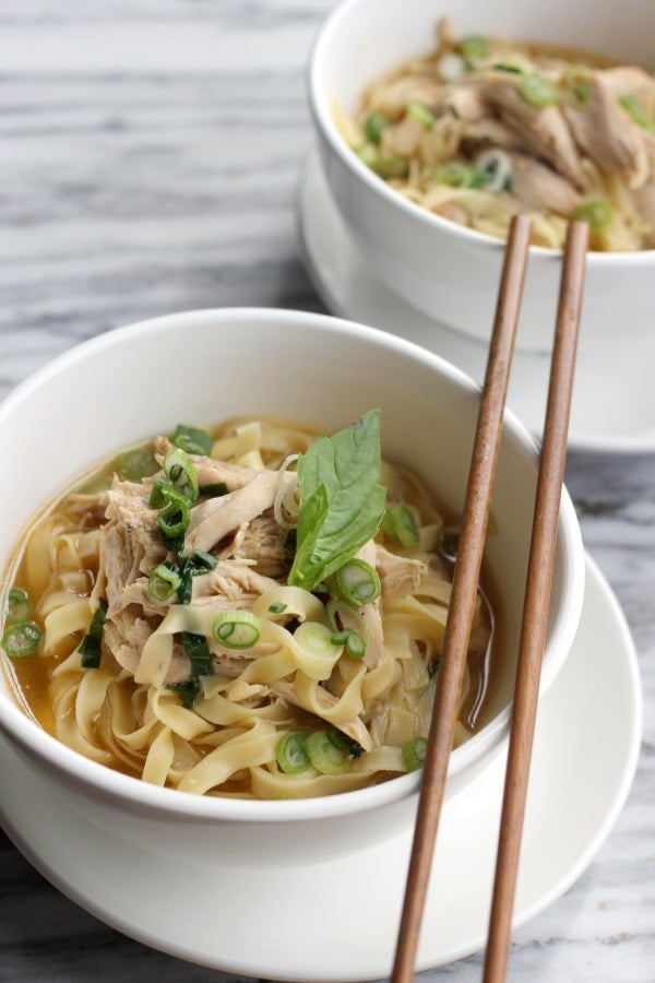Chicken Noodle Soup-Pho Fusion- Baker Bettie