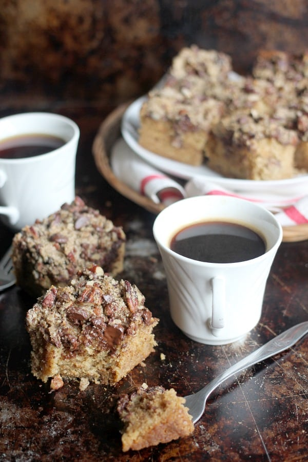 Espresso, Pecan, and Dark Chocolate Coffee Cake