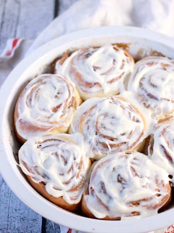 Classic Cinnamon Rolls with Cream Cheese Frosting- Baker Bettie