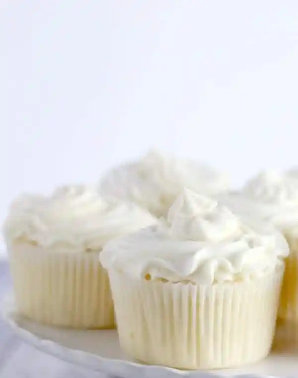 Classic White Cupcakes with Flour Buttercream Frosting- Baker Bettie