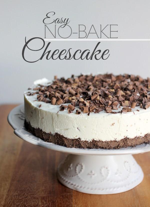 Easy No-Bake Cheesecake Recipe- Baker Bettie