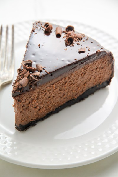 Kahlua Chocolate Cheesecake - Baker by Nature